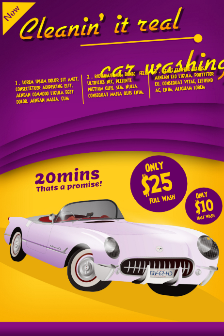 Customize 290 Car Wash Flyer Templates  PosterMyWall
