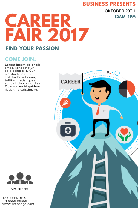 Career Fair Flyer Template PosterMyWall