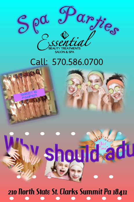 Kids Spa Day Flyer Template PosterMyWall