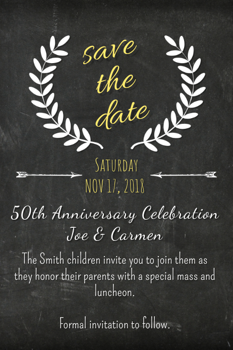chalk save the date