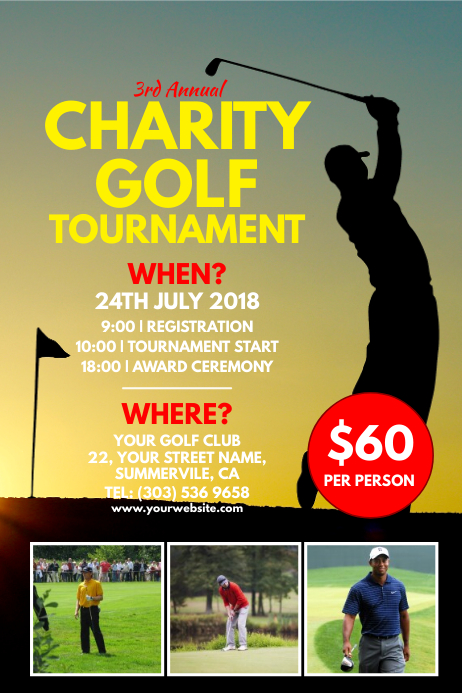 Charity Golf Tournament Poster Template PosterMyWall