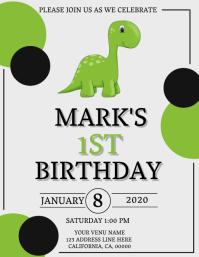 26 520 dinosaur party invitation