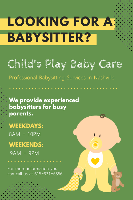 child care brochure template free