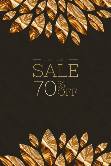 Chocolate Gold Elegant Poster Template For Sale PosterMyWall