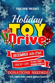 70 Customizable Design Templates for Toy Drive  PosterMyWall