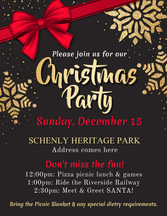 Christmas Party Flyer Template PosterMyWall