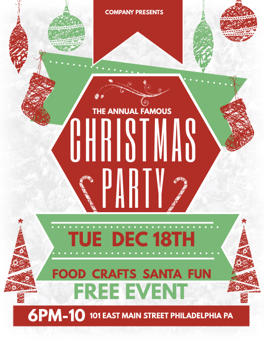 Christmas Party Template PosterMyWall