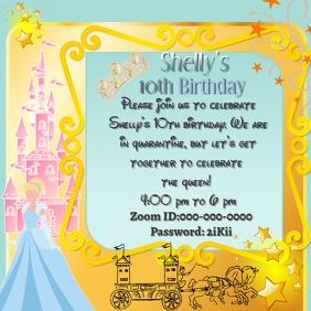 cinderella birthday invite template