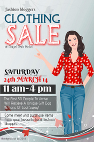 Customizable Design Templates for Clothing Sale  PosterMyWall