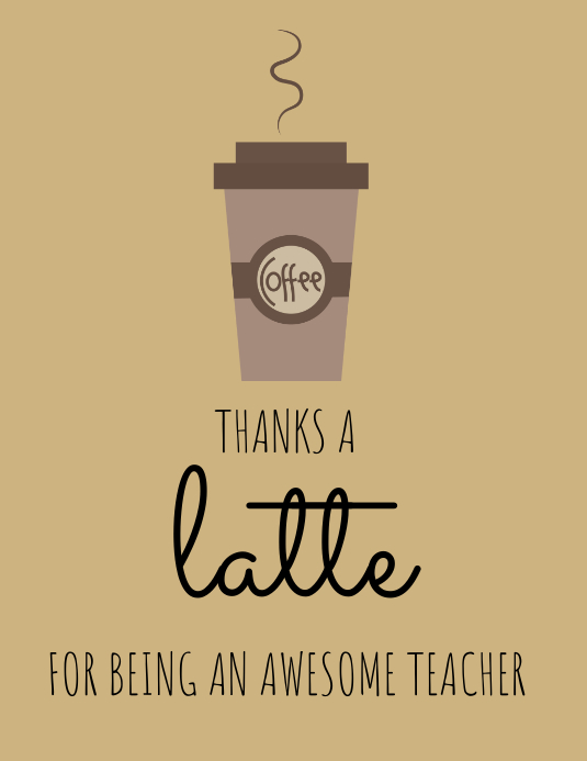 Copy Of Coffee Themed Thank You Card Template PosterMyWall