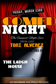 210 Customizable Design Templates for Comedy Flyer