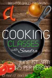 Customizable Design Templates for Cooking Classes  PosterMyWall