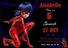 This miraculous ladybug invitation is perfect for. 15 170 Ladybug Birthday Invitation Customizable Design Templates Postermywall