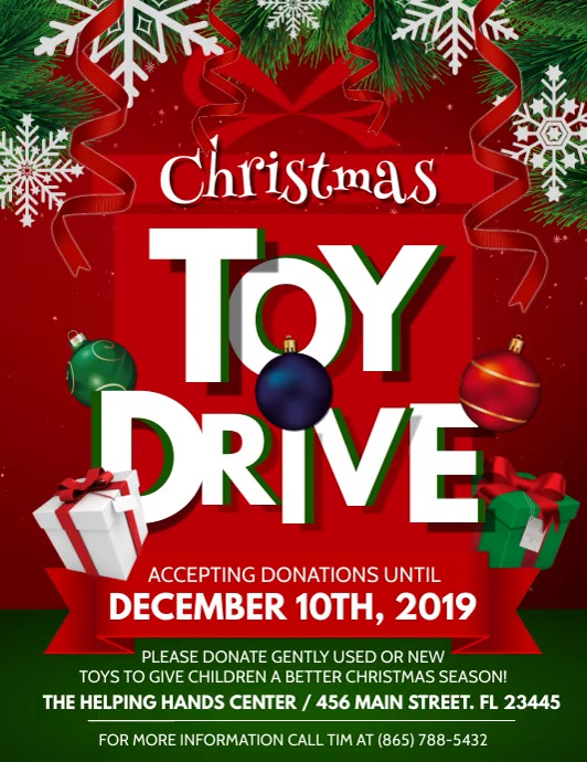 Toy Drive Template Postermywall