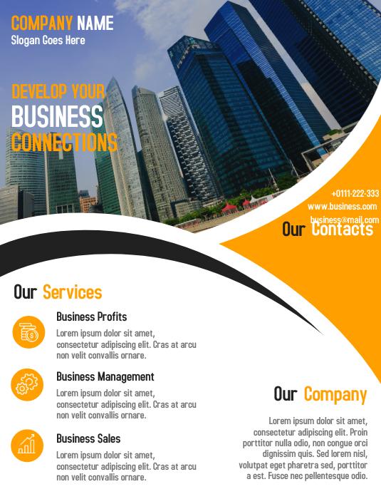 corporate flyer und poster design