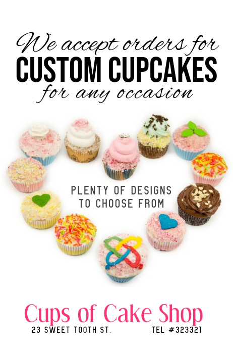 Cupcake Shop Template Postermywall