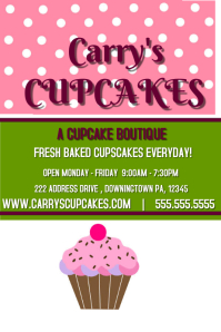 8490 Customizable Design Templates for Cupcake Sale  PosterMyWall