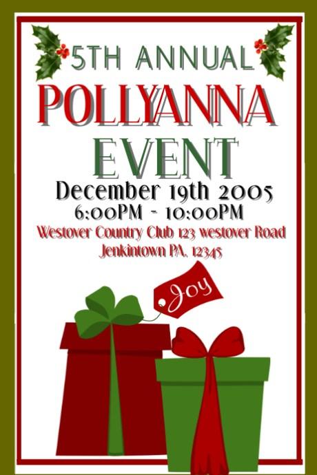customizable design templates for pollyanna gift exchange postermywall - Christmas Pollyanna