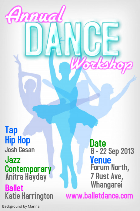 Dance Workshop Poster Template PosterMyWall