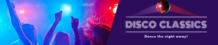 disco themed soundcloud banner
