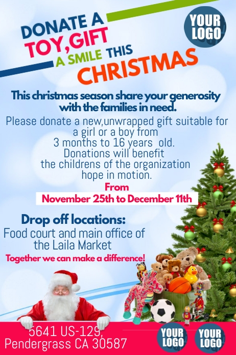 Copy Of Donation Toy Drive Postermywall