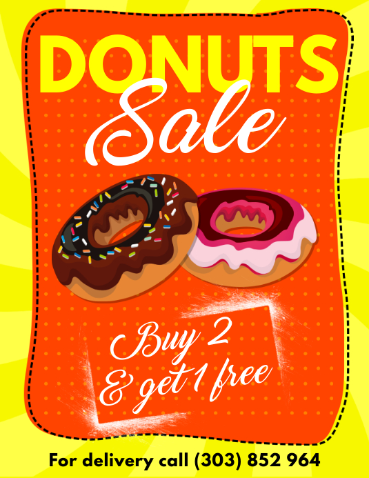 Donuts Sale Flyer Template  PosterMyWall