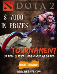 970 dota 2 tournament flyer template
