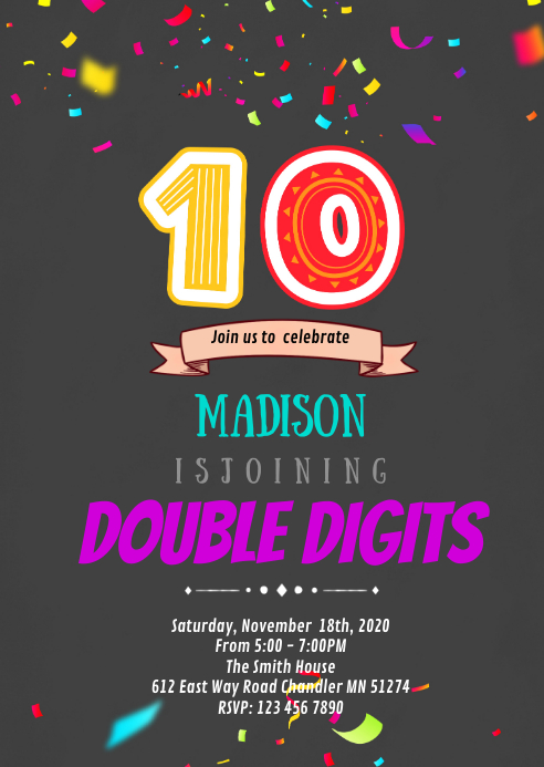 double digits 10th birthday party