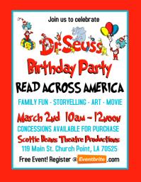 dr seuss birthday party invitation