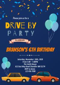 boys birthday invitation customizable