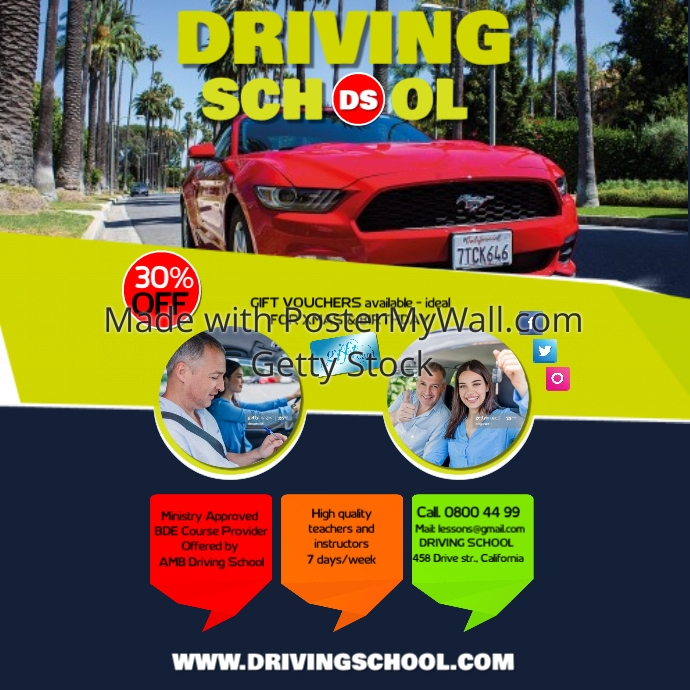 Driving School1 Template PosterMyWall