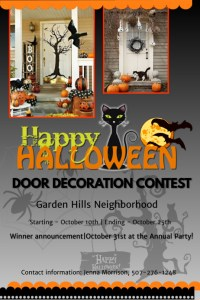 Halloween door decoration contest Template