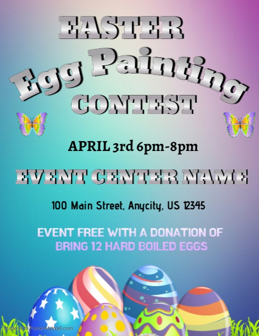 Egg Painting Contest Template PosterMyWall