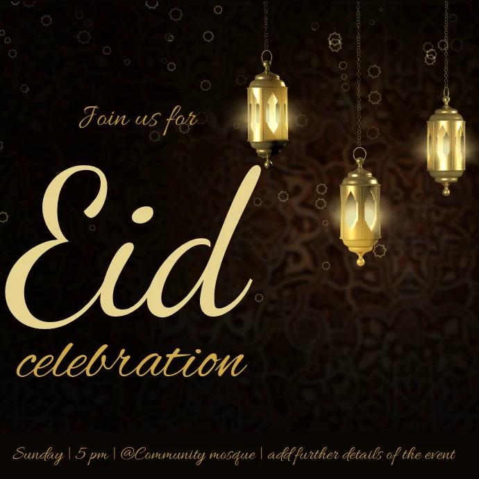 Copy Of Eid Mubarak Postermywall