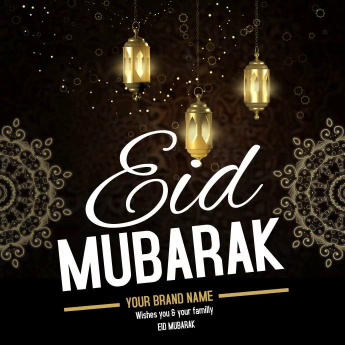 Eid Mubarak Editable Video Template Postermywall