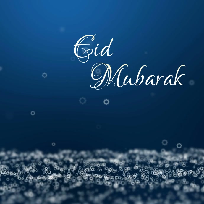 Eid Mubarak Greeting Wishes Card Video Online Template