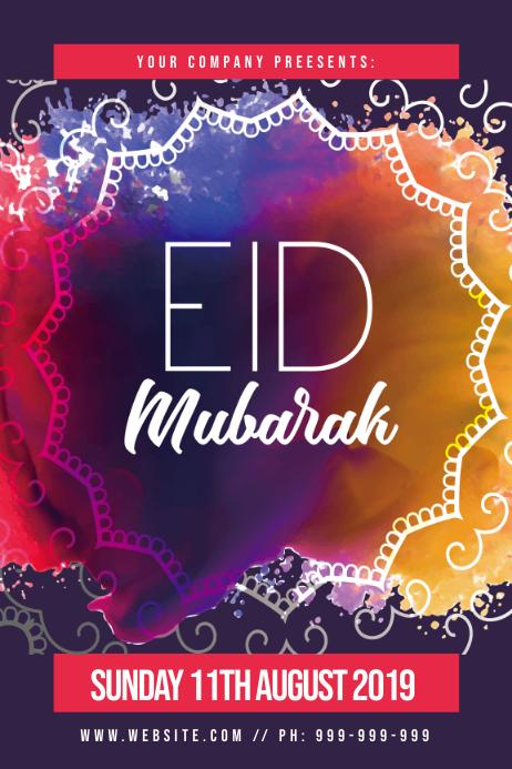 Eid Mubarak Poster Template Postermywall