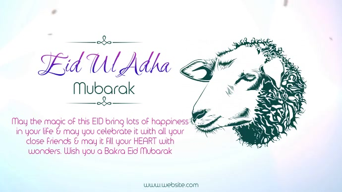 Eid Mubarak Wish Template Postermywall