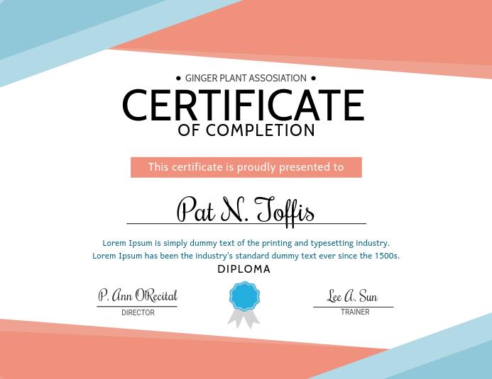 Certifcate Completion