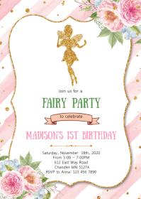 fairy birthday customizable design