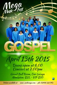 Customizable Design Templates for Gospel Concert  PosterMyWall