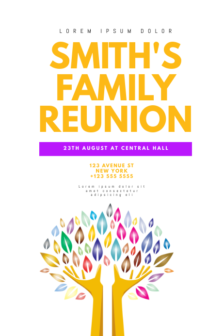family reunion poster template