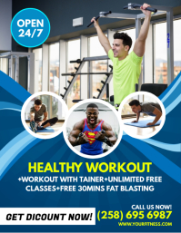 Customizable Design Templates for Fitness Flyer   PosterMyWall