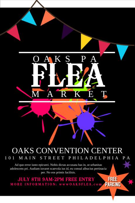 Flea Market Template PosterMyWall