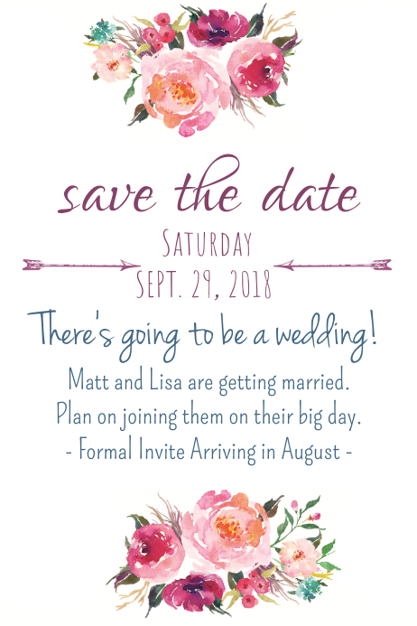 postcard save the date template