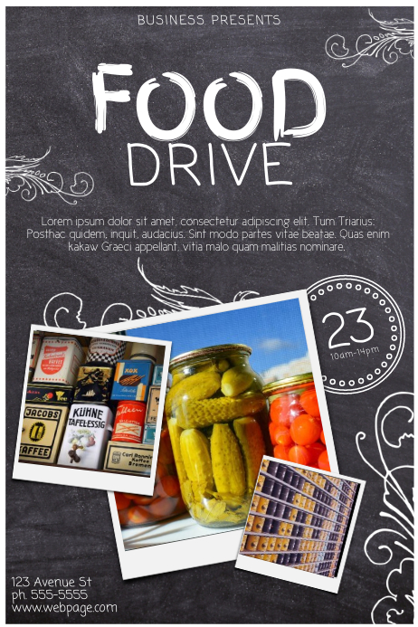 Copy Of Food Drive Template PosterMyWall