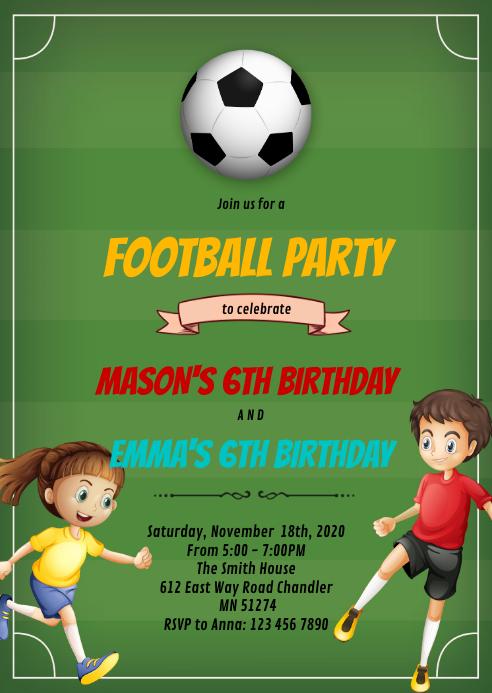 football soccer boy girl party