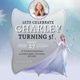 frozen birthday invitation customizable