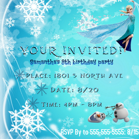 6 880 Customizable Design Templates For Frozen Birthday