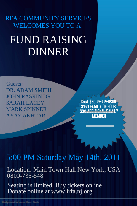 Fundraising Event Flyer Template PosterMyWall
